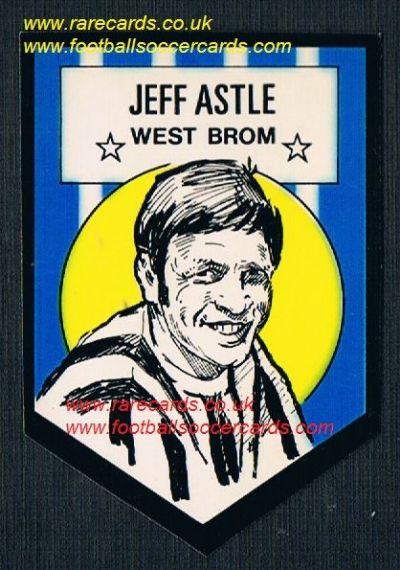 1972 BAB unused Shooting Stars WBA Astle with original backing paper